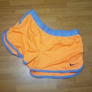 Orange Nike Workout Shorts